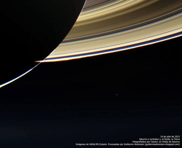 earth from Saturn July 19 2013 Cassini Mission